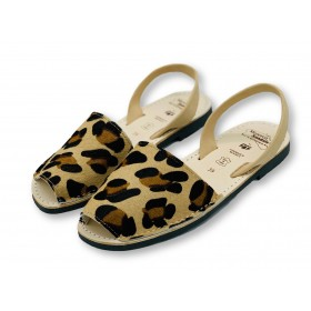 Classic Flat Leopard Leather
