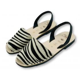 Classic Flat Zebra Leather