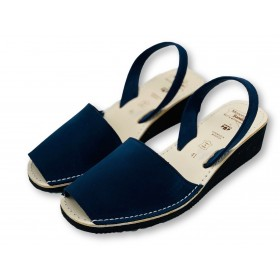 Mid Wedge Navy Nubuck
