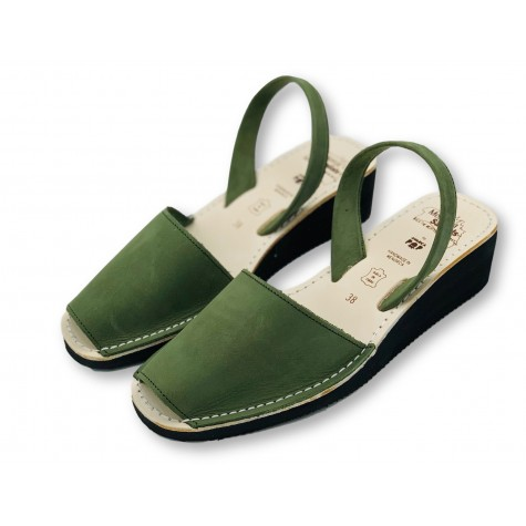 Mid Wedge Green Nubuck