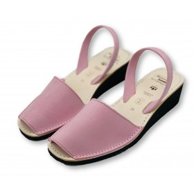 Mid Wedge Pink Nubuck