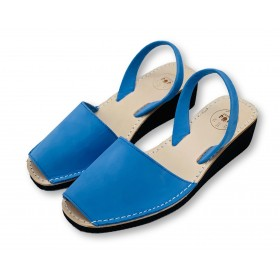 Mid Wedge Electric Blue Nubuck