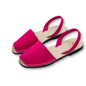 Classic Flat Vivid Pink Nubuck