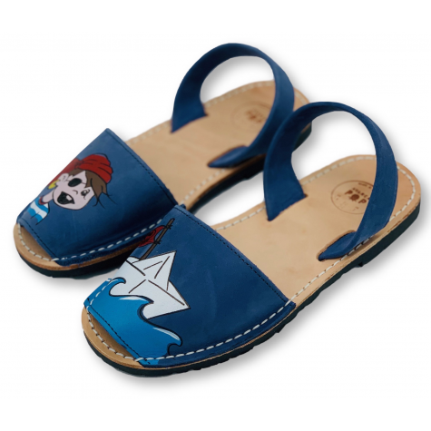 Kids Flat Blue Pirate Nubuck