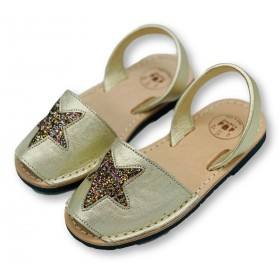 Kids Flat Gold Glitter Star...