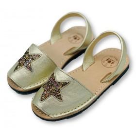 Kids Flat Gold Glitter Star...