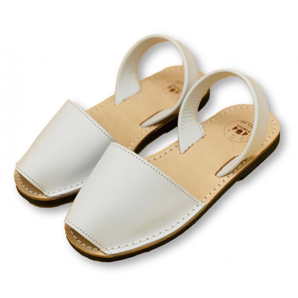 Kids Flat White Leather Kids Size 29
