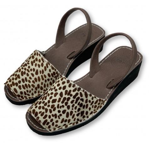 Mid Wedge Giraffe Leather