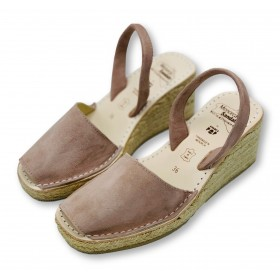 Espadrille Wedge Blush Nubuck