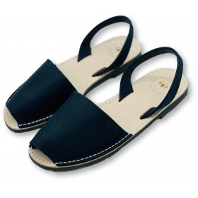 Classic Flat Navy Leather -...