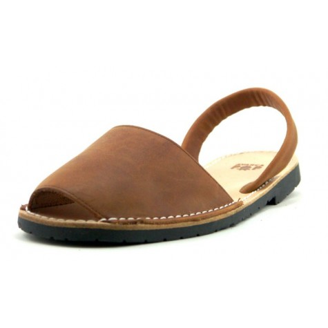 Mens Flat Brown Leather